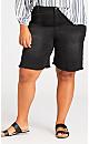 Plus Size Denim Short - black