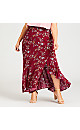 Plus Size Santorni Print Skirt - ruby