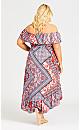 Plus Size Medina Dress - red