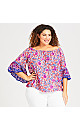 Plus Size Tuscany Top - coral