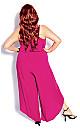 Plus Size Split Leg Jumpsuit - hot pink