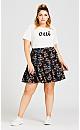 Plus Size So Sweet Skirt - black