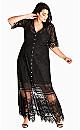 Summer Lace Maxi Dress - black