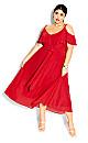 Romantic Tie Dress - red