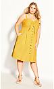 Plus Size Sweetly Tied Dress - sunshine