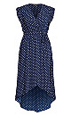 Fresh Spot Maxi Dress - navy