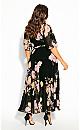 Plus Size Tuscan Wrap Maxi Dress - black