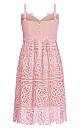 Plus Size Fancy Free Dress - musk