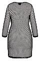 Plus Size Mesh Mini Dress - black