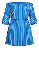 Sunshine Stripe Dress - blue