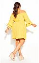Sunshine Stripe Dress - golden yellow