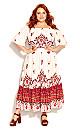 Plus Size Boho Angel Maxi Dress - ivory