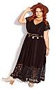 City Of Angels Maxi Dress - black