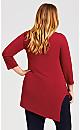 Plus Size Kelly Tunic - brick red