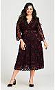 Plus Size Love Lace Dress - ruby