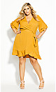 Plus Size Flutter Daze Dress - butterscotch