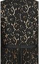 Plus Size Pleated Lace Maxi Dress - black
