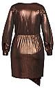 Plus Size Ambiguous Dress - bronze