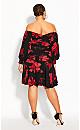Plus Size Crimson Garden Dress - black