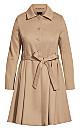 Plus Size Blushing Belle Coat - taupe