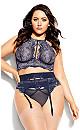 Plus Size Alexis Garter Belt - midnight