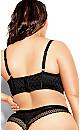 Plus Size Krista Longline Contour Bra - black
