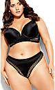 Plus Size Krista Thong - black