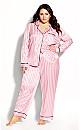 Plus Size Sophia Sleep Pant - blush stripe