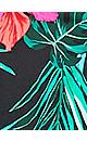 Plus Size Hawaiian Tankini - black
