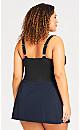 Plus Size Basic Skirt - navy