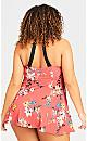 Plus Size Florentine Swim Dress - coral