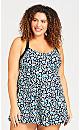 Plus Size Sarabi Swim Dress - navy