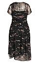 Plus Size Moody Sky Dress - black