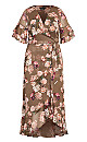 Kindred Floral Maxi Dress - taupe