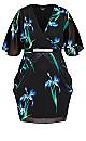 Wrap Iris Dress - black