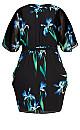 Plus Size Wrap Iris Dress - black