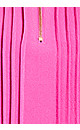 Plus Size Pleat Zip Blouse - magenta