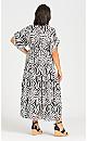 Plus Size Val Print Dress - white
