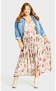 Plus Size Val Print Dress - toffee