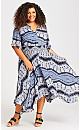 Hanky Hem Maxi Dress - sapphire
