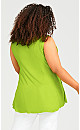 Fit N Flare Tank - lime