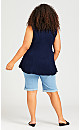 Plus Size Fit N Flare Tank - navy