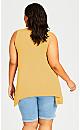 Plus Size V Neck Swing Tank - mustard