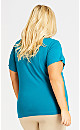 Plus Size Essential V Neck Tee - teal