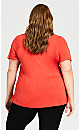 Crochet Cut Out Top - red