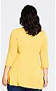 Plus Size V Neck Swing Top - sunflower