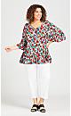Plus Size Harper Tunic - poppy
