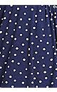 Plus Size Sharkbite Knit Tunic - navy