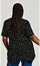Plus Size Sharkbite Knit Tunic - black