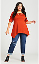 Knotted Cage Tunic - cinnamon